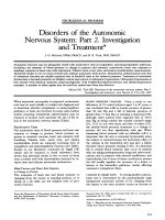 Disorders of the autonomic nervous system  Part 2. investigation and treatment