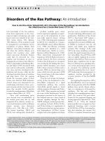 Disorders of the Ras pathway  An introduction.