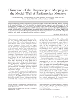 Disruption of the proprioceptive mapping in the medial wall of parkinsonian monkeys.