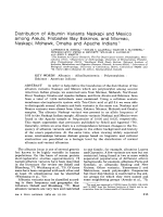 Distribution of albumin variants Naskapi and Mexico among Aleuts  Frobisher Bay Eskimos  and Micmac  Naskapi  Mohawk  Omaha and Apache Indians.