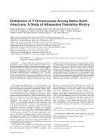 Distribution of Y chromosomes among native North Americans  A study of Athapaskan population history.