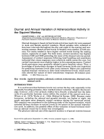 Diurnal and annual variation of adrenocortical activity in the squirrel monkey.