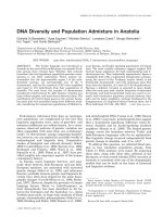 DNA diversity and population admixture in Anatolia.