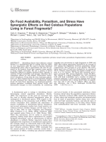 Do food availability  parasitism  and stress have synergistic effects on red colobus populations living in forest fragments.