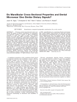 Do mandibular cross-sectional properties and dental microwear give similar dietary signals.