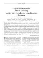 Dopamine-dependent motor learning  Insight into levodopa's long-duration response.