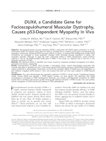 DUX4  a candidate gene for facioscapulohumeral muscular dystrophy  causes p53-dependent myopathy in vivo.
