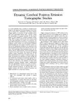 Dynamic cerebral positron emission tomographic studies.