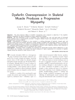 Dysferlin overexpression in skeletal muscle produces a progressive myopathy.