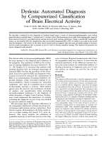Dyslexia  Automated diagnosis by computerized classification of brain electrical activity.