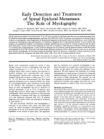 Early detection and treatment of spinal epidural metastases  The role of myelography.