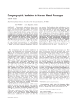 Ecogeographic variation in human nasal passages.