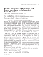 Economic intensification and degenerative joint disease  Life and labor on the postcontact north coast of Peru.