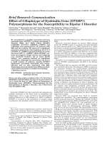 Effect of 5-haplotype of dysbindin gene (DTNBP1) polymorphisms for the susceptibility to bipolar I disorder.