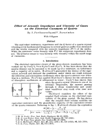 Effect of Acoustic Impedance and Viscosity of Gases on the Electrical Constants of Quartz.