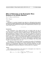 Effect of Defocusing on the Rectangular Wave Response of an Annular Aperture.