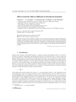 Effect of electric field on diffusion in disordered materials.