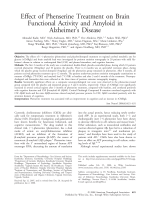Effect of phenserine treatment on brain functional activity and amyloid in Alzheimer's disease.