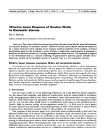 Effective Linear Response of Random Media to Stochastic Sources.