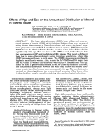 Effects of age and sex on the amount and distribution of mineral in Eskimo tibiae.