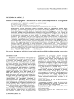 Effects of anthropogenic disturbance on indri (Indri indri) health in Madagascar.