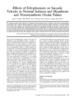 Effects of edrophonium on saccadic velocity in normal subjects and myasthenic and nonmyasthenic ocular palsies.