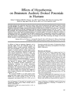 Effects of hypothermia on brainstem auditory evoked potentials in humans.