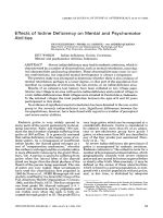 Effects of iodine deficiency on mental and psychomotor abilities.