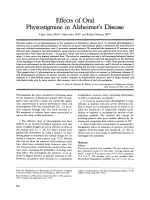 Effects of oral physostigmine in Alzheimer's disease.