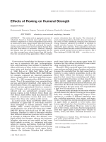 Effects of rowing on humeral strength.