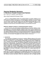 Electrical Dissipative Structures in Membrane-Coupled Compartment Systems.