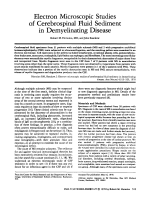 Electron microscopic studies of cerebrospinal fluid sediment in demyelinating disease.