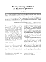 Electrophysiological studies in Tourette's syndrome.
