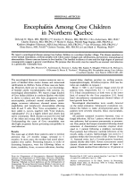 Encephalitis among cree children in northern Quebec.