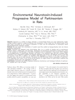 Environmental neurotoxin-induced progressive model of parkinsonism in rats.