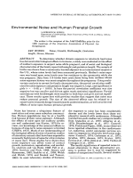 Environmental noise and human prenatal growth.