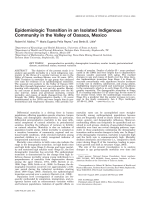 Epidemiologic transition in an isolated indigenous community in the Valley of Oaxaca  Mexico.