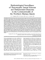 Epidemiological surveillance of amyotrophic lateral sclerosis and parkinsonism-dementia in the commonwealth of the Northern Mariana Islands.