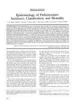 Epidemiology of parkinsonism  Incidence  classification  and mortality.