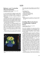 Epilepsy and cerebellar hypometabolism.