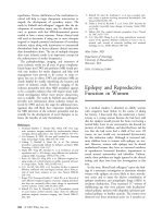 Epilepsy and reproductive function in women.