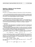Equations of Motion for Test Particles with Internal Structure.