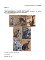Erratum  Berg W  Jolly A  Rambeloarivony H  Andrianome V  Rasamimanana H. 2009. A scoring system for coat and tail condition in ringtailed lemurs  Lemur catta