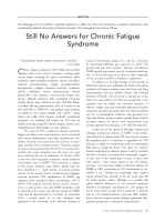 Erratum  Still No Answers for Chronic Fatigue Syndrome.
