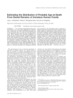 Estimating the distribution of probable age-at-death from dental remains of immature human fossils.