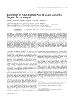 Estimation of adult skeletal age-at-death using the Sugeno fuzzy integral.