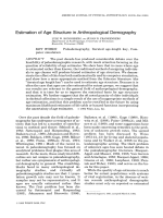 Estimation of age structure in anthropological demography.
