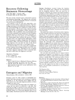 Estrogens and migraine.