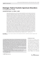 Etiologic yield of autistic spectrum disorders  A prospective study.