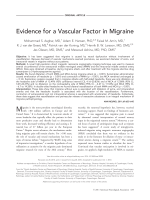 Evidence for a vascular factor in migraine.